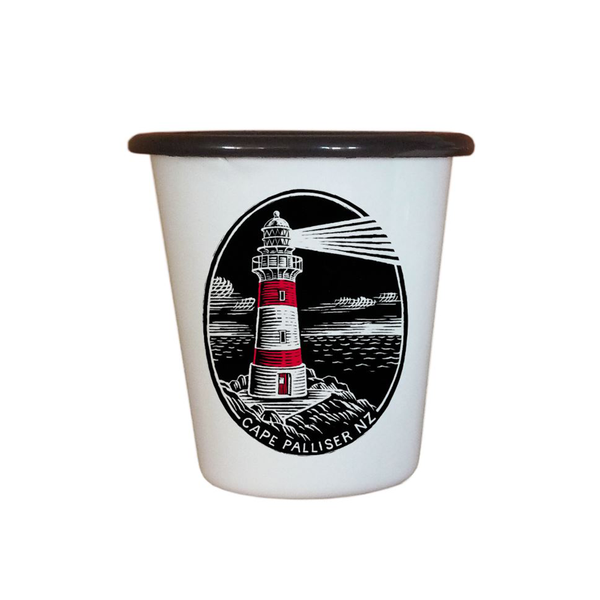 Wolfkamp and Stone Enamel Tumbler Cape palliser Lighthouse