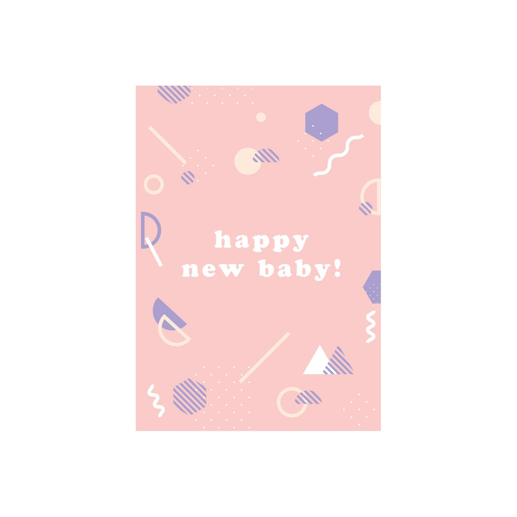 Iko Iko Patterned Message Card Baby Pink