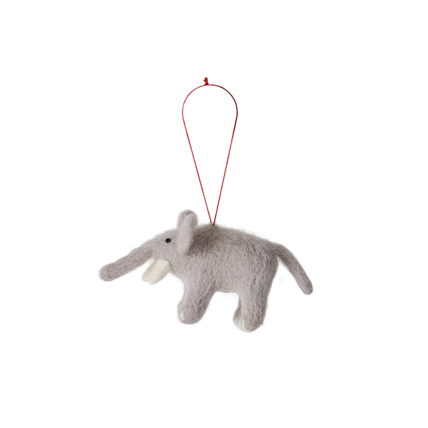 Citta Handmade Woollen Elephant Hanging Decoration