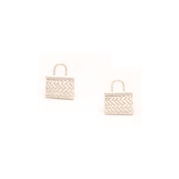 Little Taonga Studs Kete Silver