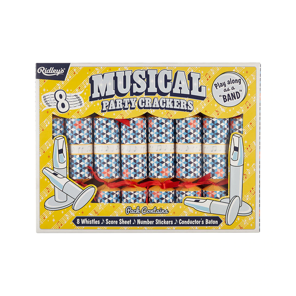 Ridleys Party Crackers Musical Set of 8