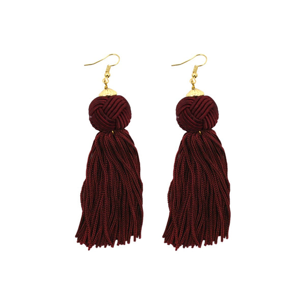 Stella + Gemma Earrings Emma Burgundy