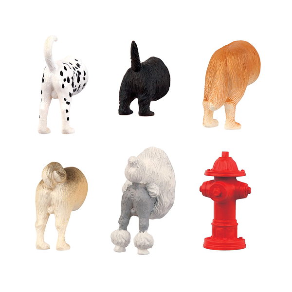 Kikkerland Dog Butt Magnets Pack of 6
