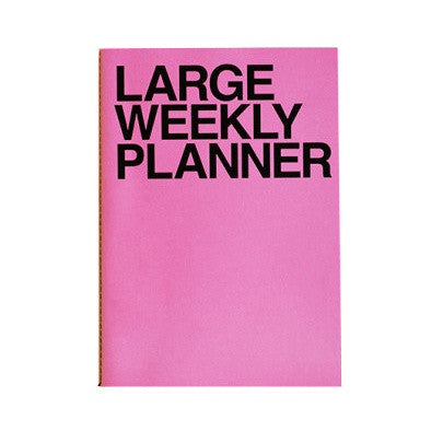 J Story Weekly Planner Large Pink