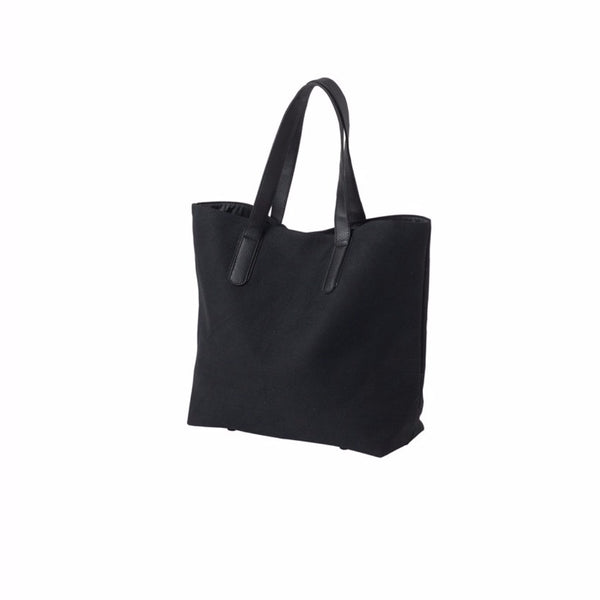 Citta Canvas Shopping Bag Black