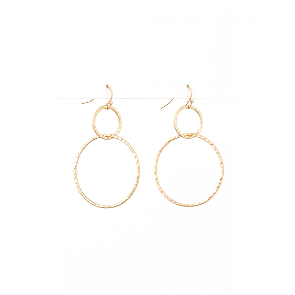Stella + Gemma Earrings Hoops Gold