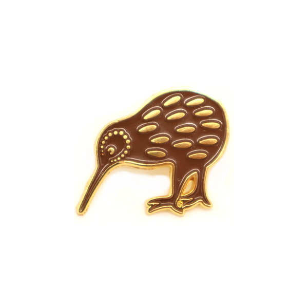 NZ Enamel Pin Brown Kiwi