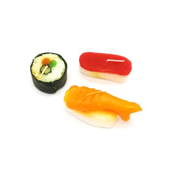 Sushi Tea Light Candles Set of Three