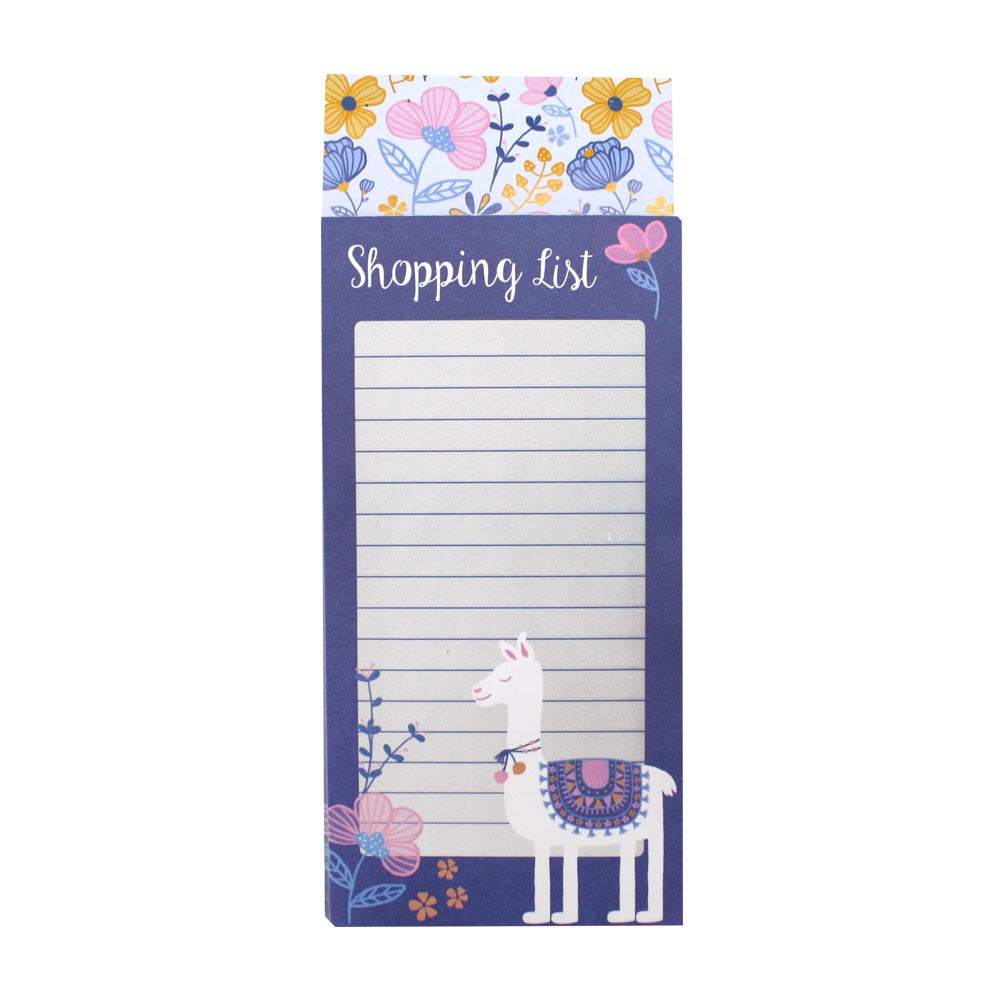 Magnetic Shopping List Alpaca