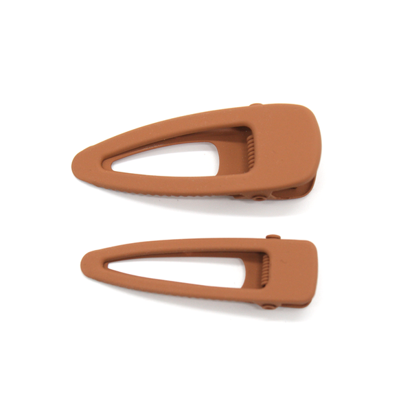 Fun Times Matt Harclips Set of 2 Light Rust