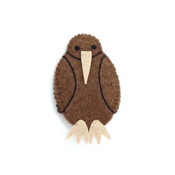 Woolen Native Bird Finger Puppet Kiwi