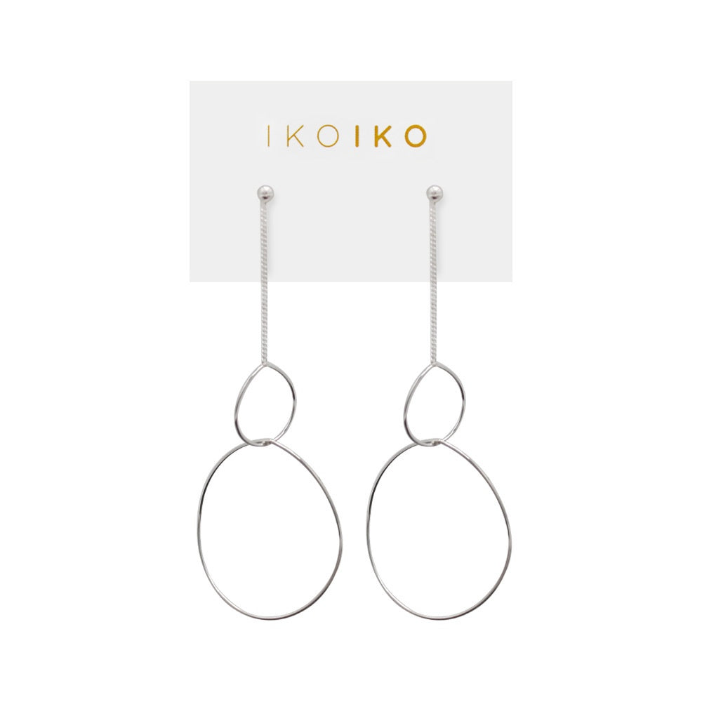 Iko Iko Studs Thread with Two Tear Drops