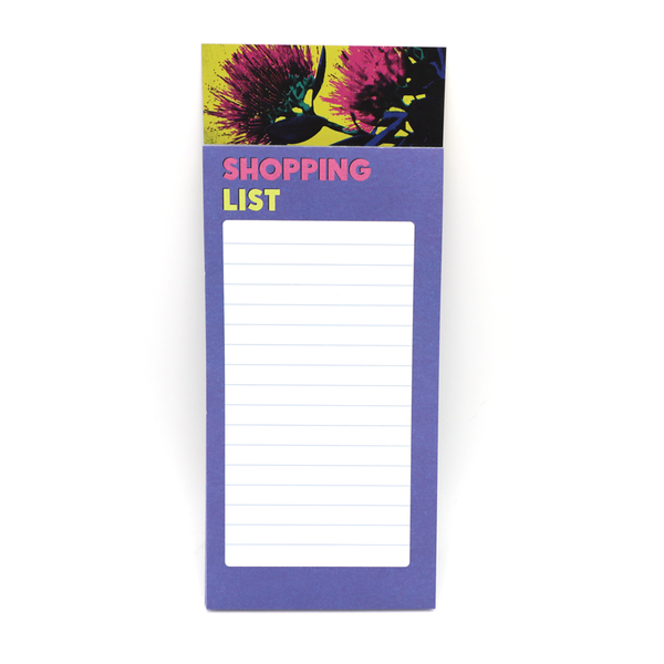 Magnetic Shopping List Pop Art Pohutukawa