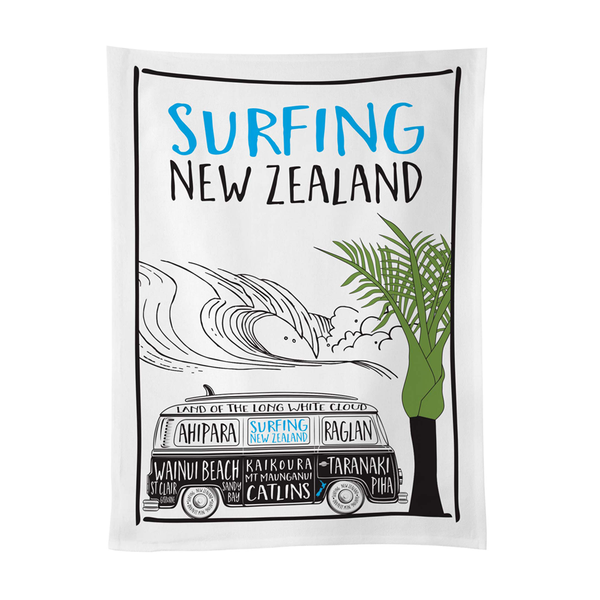Moana Road Tea Towel Surfing