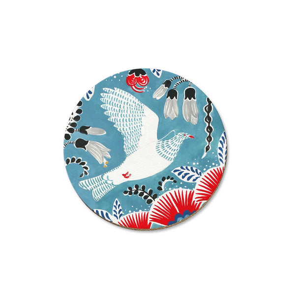 New Zealand Coaster Kereru on Blue