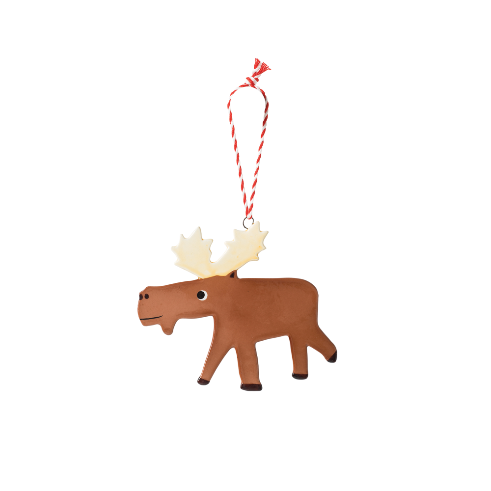 Citta Hand Painted Moose Decoration