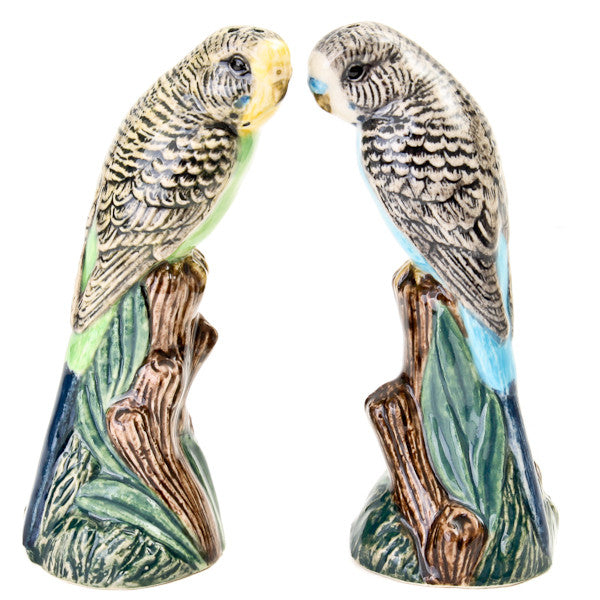 Quail Budgerigar Green & Blue Salt & Pepper Shaker