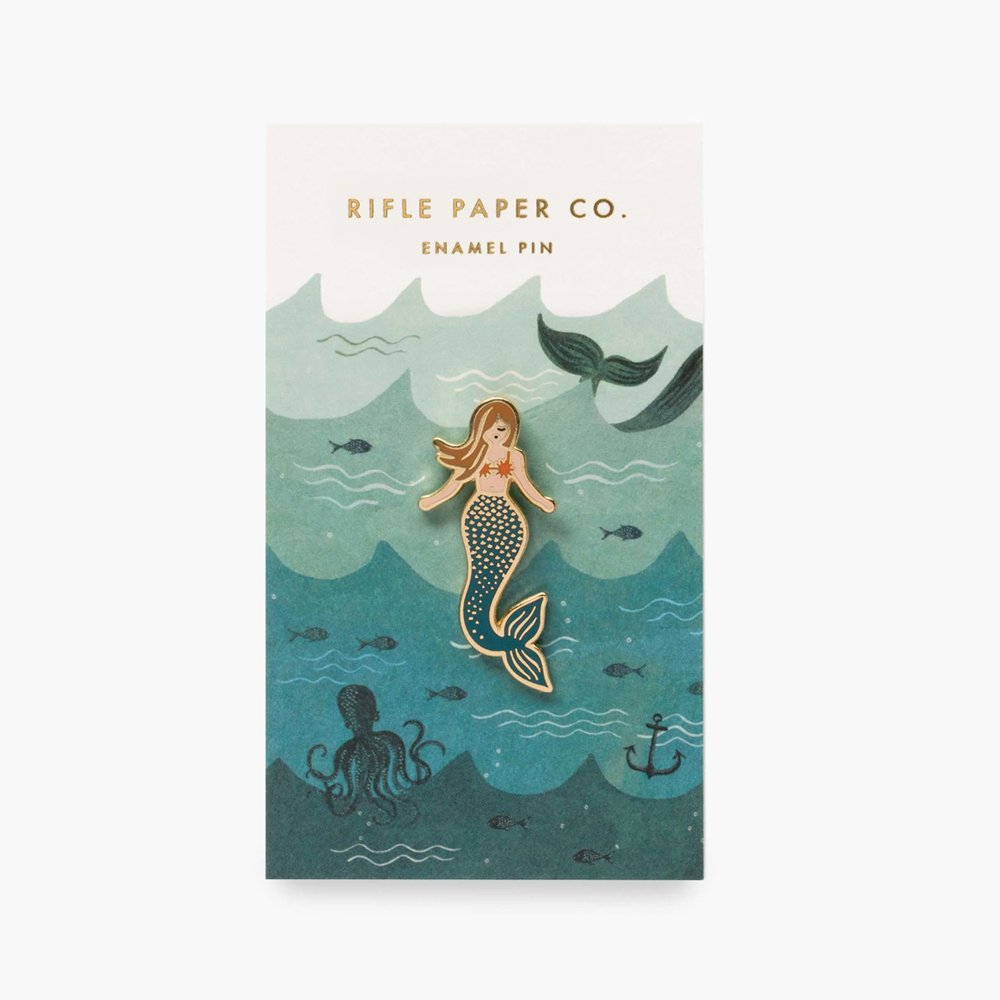 Rifle Paper Co Enamel Pin Mermaid