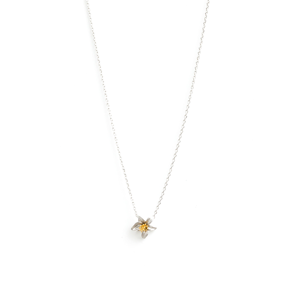 Stella + Gemma Necklace Tiger Lily Silver