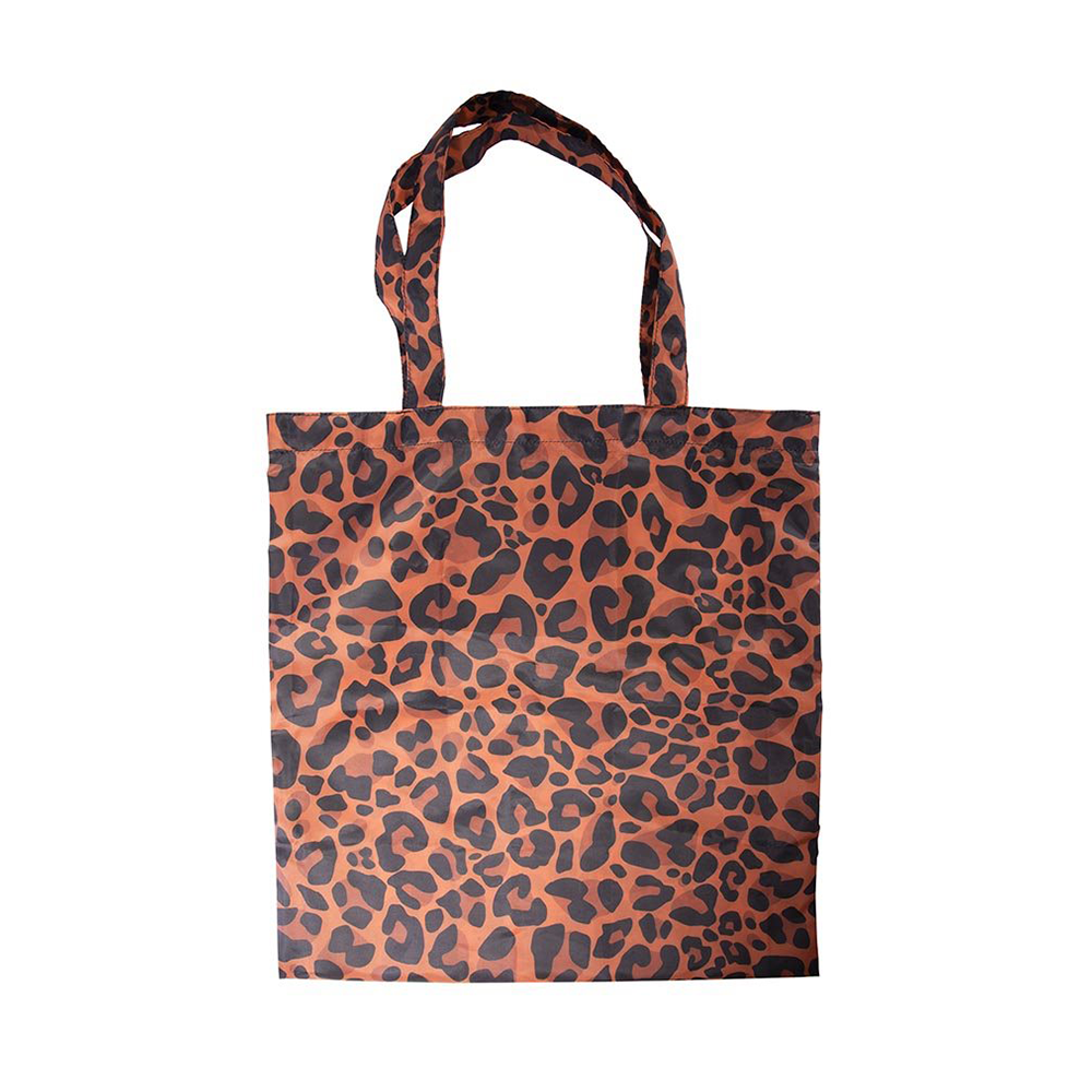 Foldable Shopper Tote Bag Animal Print Assorted