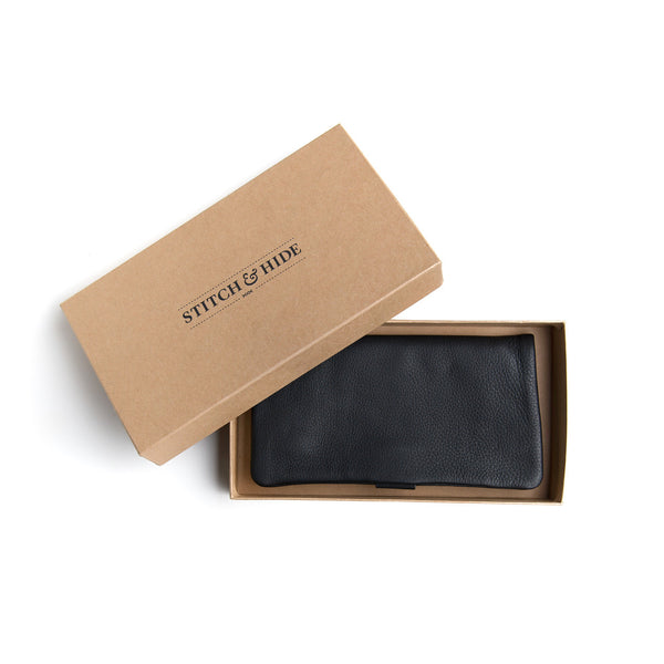 Stitch & Hide Leather Wallet Jesse Black
