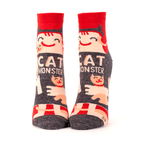 Blue Q Socks Womens Ankle Socks Cat Monster