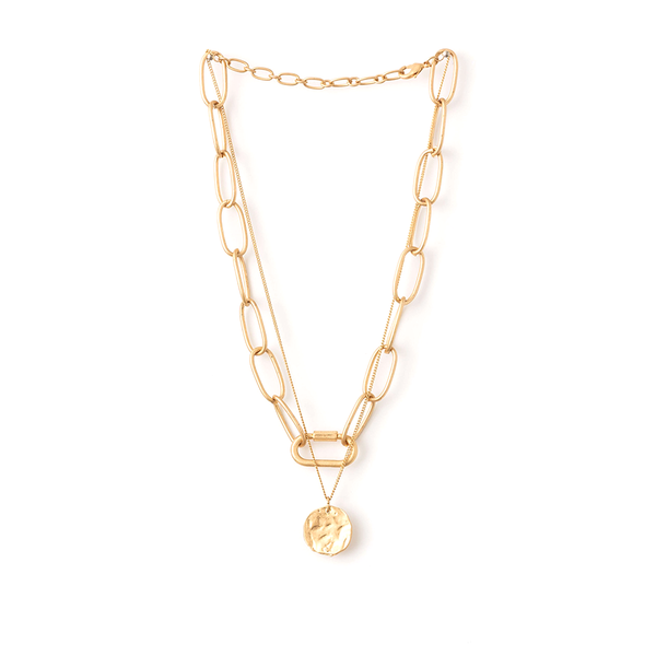 Stella + Gemma Necklace Chain with Pendant Gold