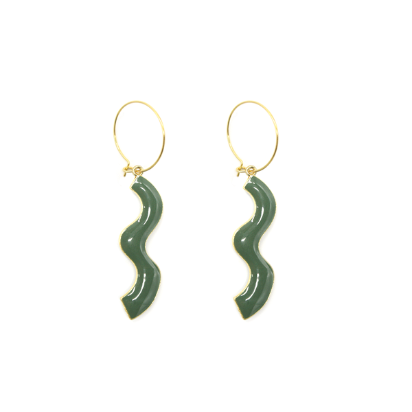 Penny Foggo Earrings Wiggles Green