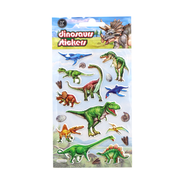 Dinosaur Puff Stickers