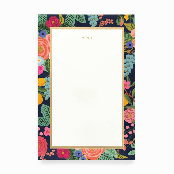 Rifle Paper Co Memo Notepad Garden Party