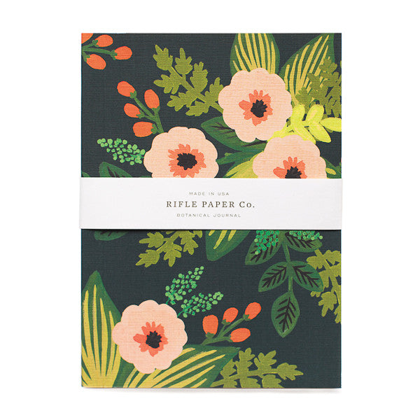Rifle Paper Co Journal Jardin Black Floral
