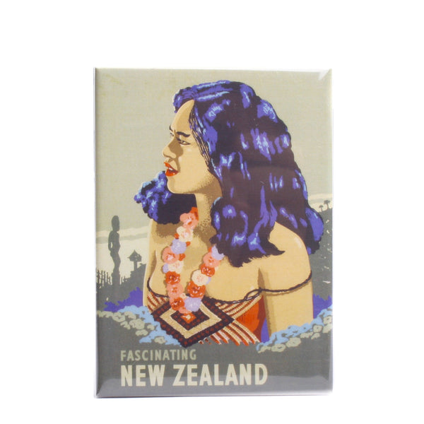 NZ Retro Fridge Magnet Fascinating