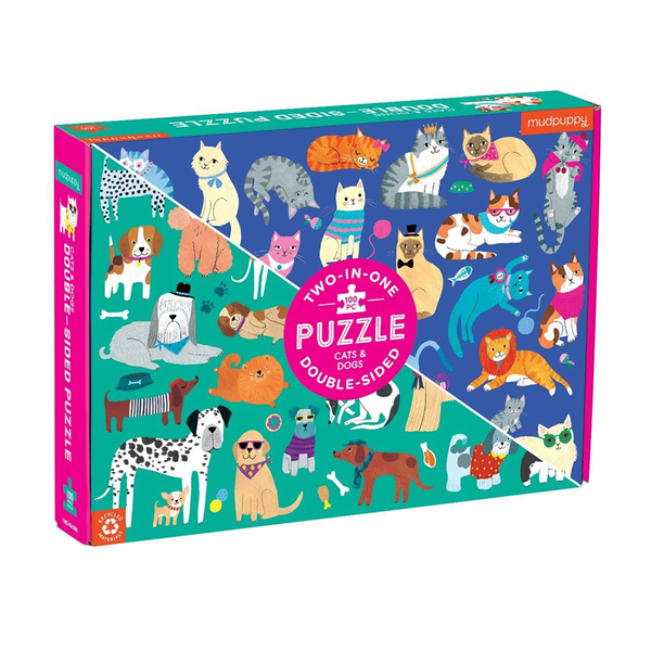 Mudpuppy Double Sided Puzzle Cats and Dogs