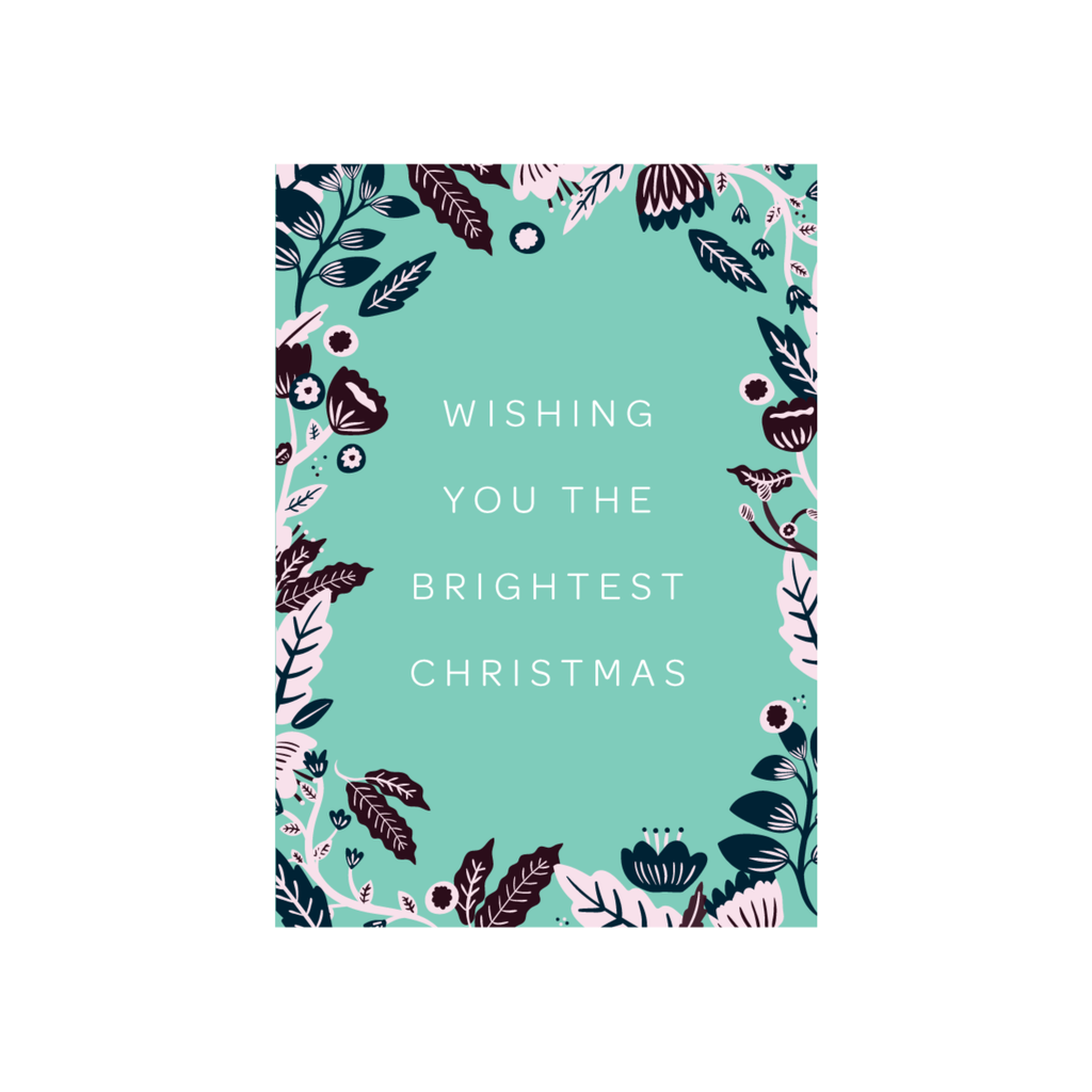Iko Iko Christmas Card Floral Bright