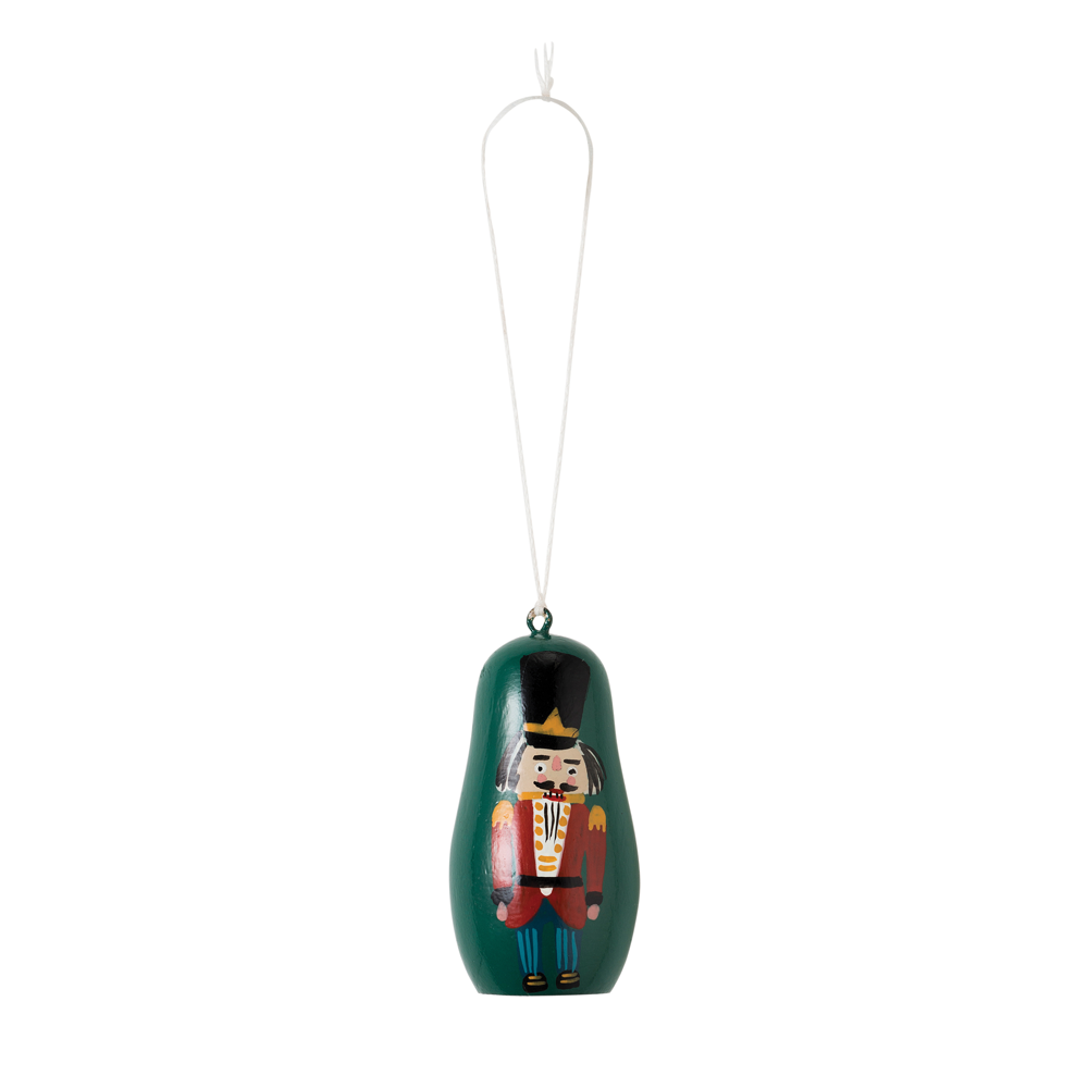 Citta Hand-Painted Nutcracker Hanging Decoration Green