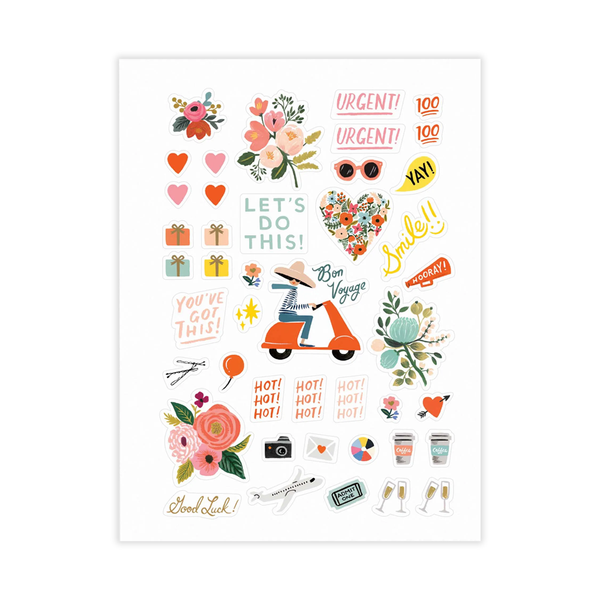 Rifle Paper Co Sticker Set Set of 3 Sheets Assorted Designs