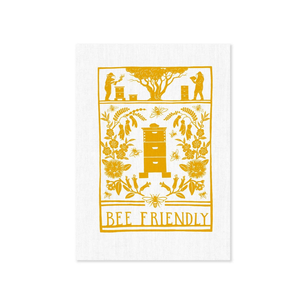 Wolfkamp and Stone Tea Towel Bee Friendly