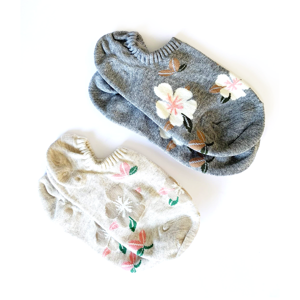Stella + Gemma Socks No Show Summer Floral Set of 2