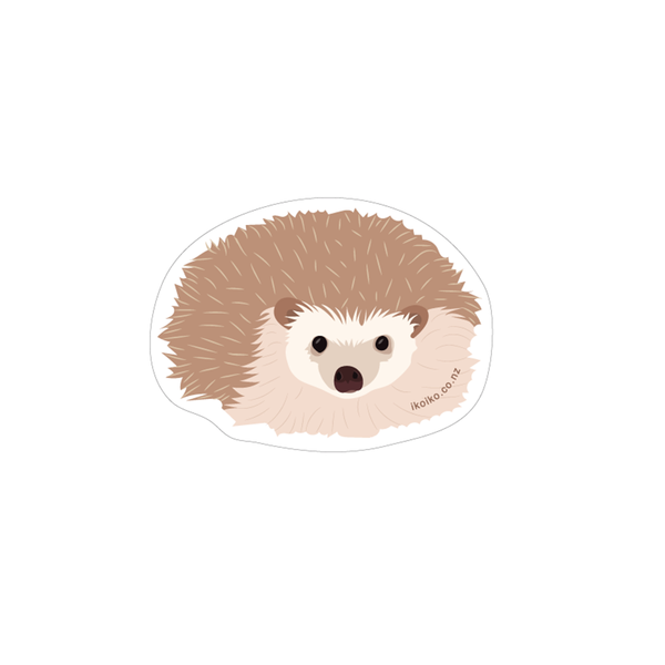 Iko Iko Fun Size Sticker Hedgehog