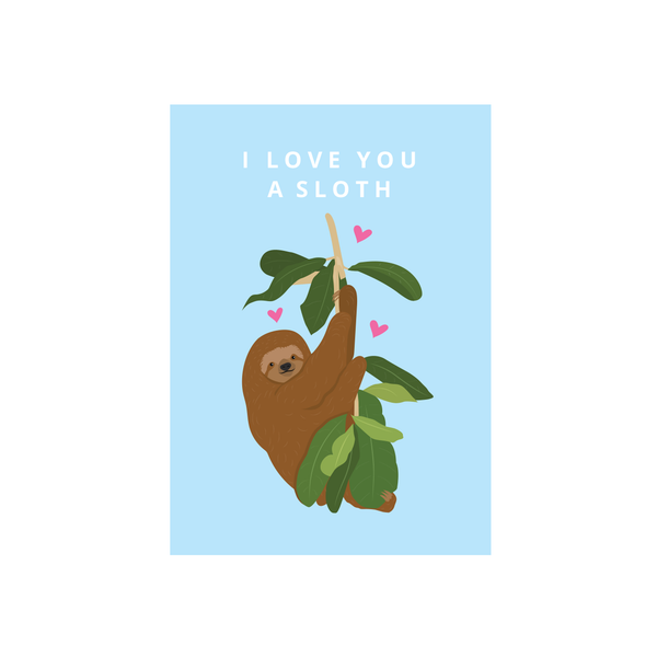 Iko Iko Cutie Animal Pun Card Love Sloth