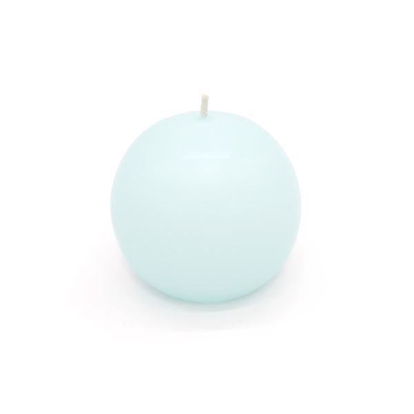 Ball Candle Large Aqua