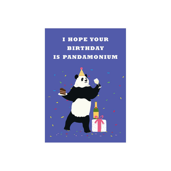Iko Iko Animal Pun Card Birthday Panda