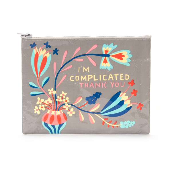 Blue Q Zipper Pouch I'm Complicated