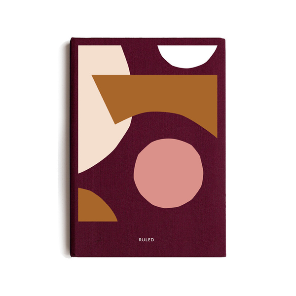 Milligram Spenceroni Soft Cover Linen Notebook Ruled A5 Burgundy