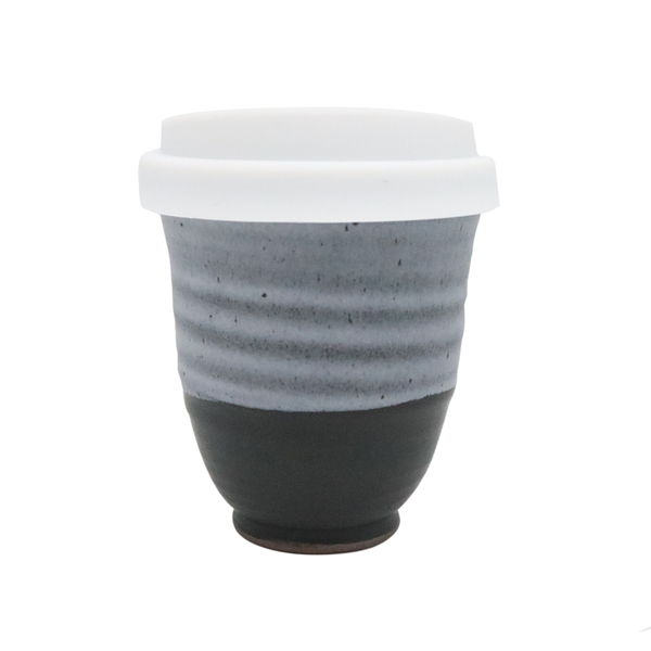Westcoast Stoneware 8oz Reusable Cup Black and Grey
