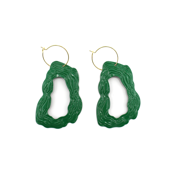 Penny Foggo Earrings Contour Green