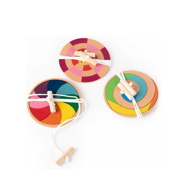 Wooden Coloured Spinner