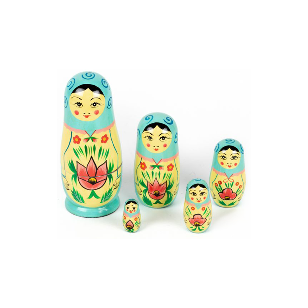 Nesting Dolls Turquoise Set of 5