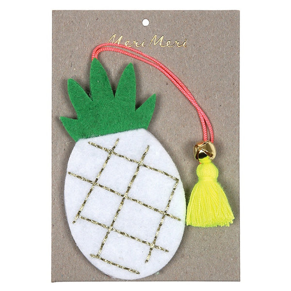Meri Meri Christmas Decoration Felt Pineapple