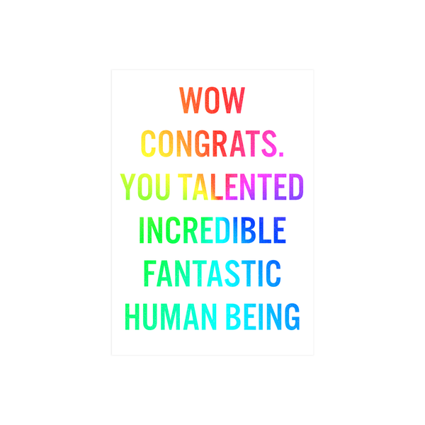 Iko Iko Words Card Fantastic Human